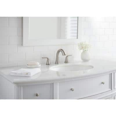 Irena 8 in. Widespread 2-Handle Bathroom Faucet in Brushed Nickel