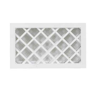 Shaker Ready to Assemble 36 in. W x 18 in. H x 12 in. D Wall Wine Rack in White