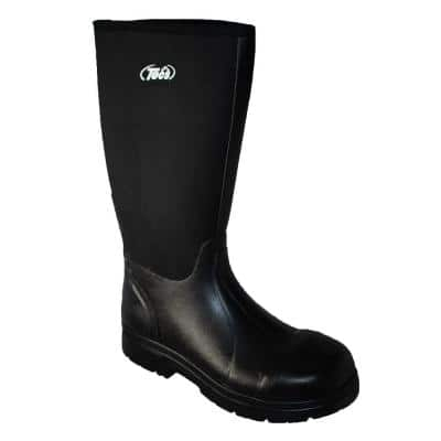 Men's 16 in. Cement Rubber Boots - Steel Toe - Black - 11(M)