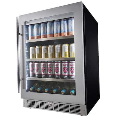 Single Zone 24 in. 126 can (12 oz.) 6 Bottle Built-in Beverage Center