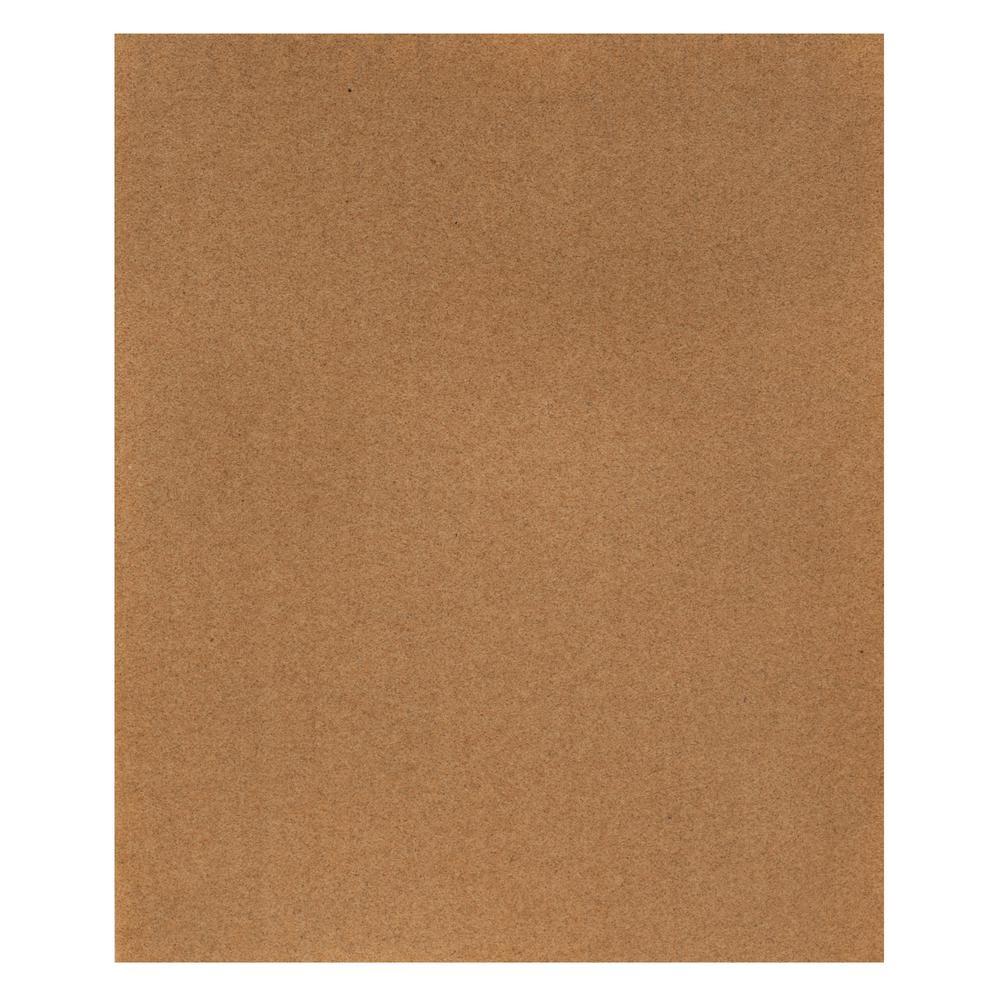 9 in. x 11 in. Natural Garnet Sandpaper 120-Grit (25-Pack)