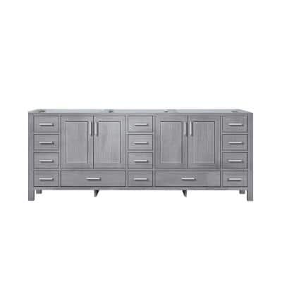 Jacques 83 in. W x 21.50 in. D  Bath Vanity Cabinet only in Distressed Grey
