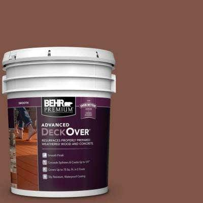 5 gal. #SC-118 Terra Cotta Smooth Solid Color Exterior Wood and Concrete Coating