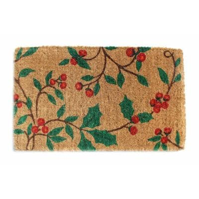 Traditional Coir, Holly Princess, 30 in. x 18 in. Natural Coconut Husk Door Mat
