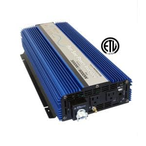 3,000 Pure Sine Inverter 12-Volt DC to 120-Volt AC ETL Listed to UL 458