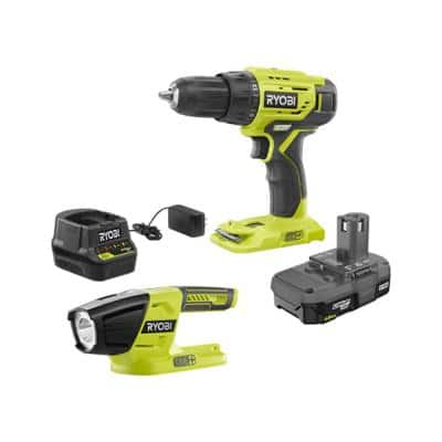 18-Volt Cordless ONE+ 1/2 in. Drill/Driver Kit with (1) 1.5 Ah Battery and Charger and LED Light