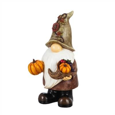 16.5 in. H Harvest Gnome Garden Statue