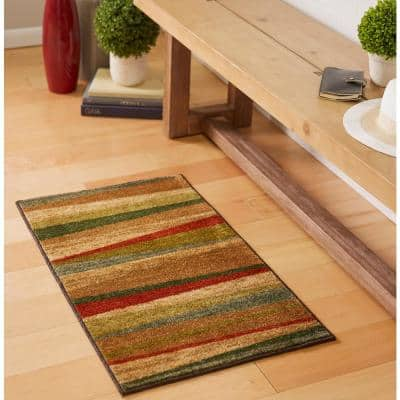 Mayan Sunset Sierra 3 ft. x 4 ft. Machine Washable Striped Area Rug