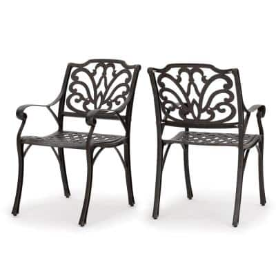 Alfresco Bronze Aluminum Outdoor Dining Chairs (Set of 2)