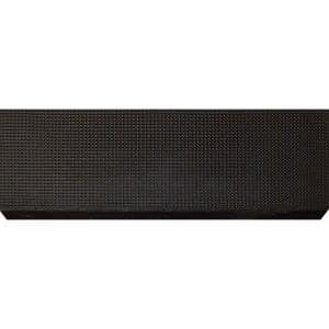 Black Rubber 9 in. x 24 in. Grid Stair Tread Cover