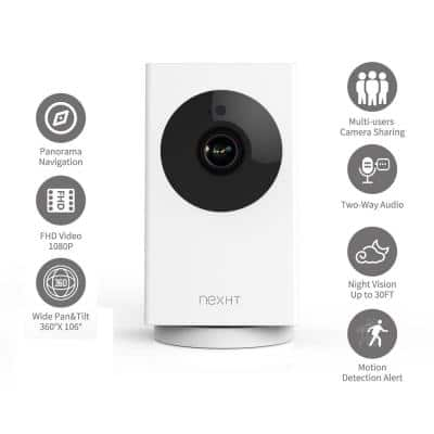 Smart WiFi 1080p Wireless Security Camera with Night Vision, 2-Way Audio, Cloud Storage, Auto Track Pan/Tilt/Zoom