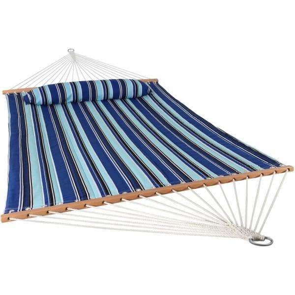 Sunnydaze Decor 11 3 4 Ft Quilted Double Fabric 2 Person Hammock In Catalina Beach Ly Qfh Cb The Home Depot