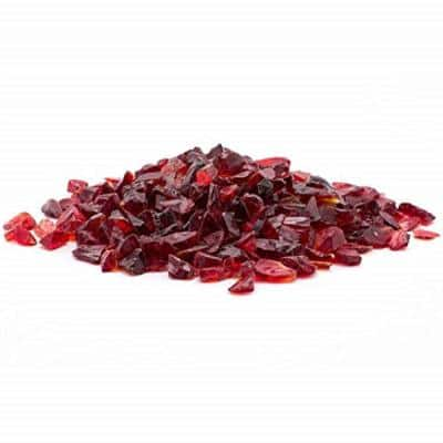 1/4 in. 20 lb. Red Landscape Glass