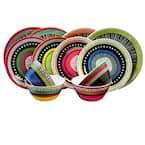 Almira 12-Piece Casual Multicolor Melamine Outdoor Dinnerware Set (Service for 4)