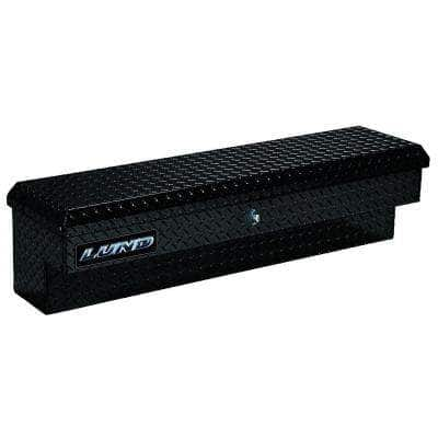 60 in Aluminum Side Mount Truck Box, Black with mounting hardware and keys included