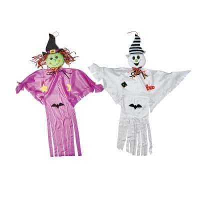 55 in. Halloween Hanging Ghost and Witch (Set of 2)