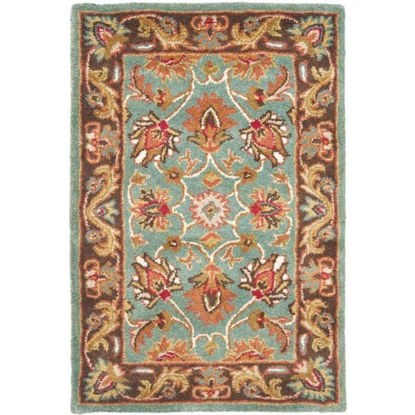 Safavieh Heritage Blue Brown 2 Ft X 4 Ft Area Rug Hg812b 24 The Home Depot