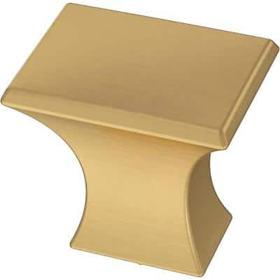 Modern A-Line 1-1/8 in. (28 mm) Brushed Brass Cabinet Knob