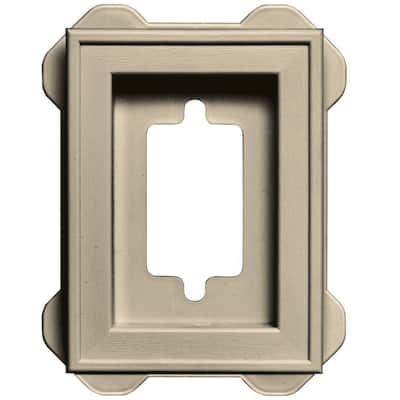4.5 in. x 6.3125 in. #049 Almond Recessed Mini Mounting Block