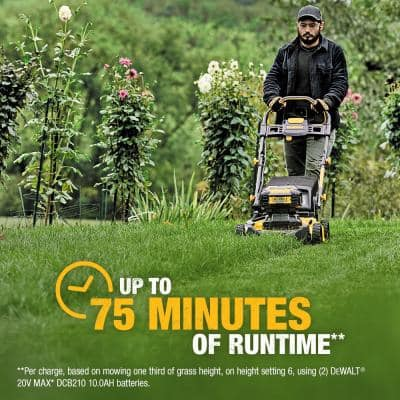 21.5 in. 20-Volt MAX Lithium-Ion Cordless Battery Walk Behind Push Mower