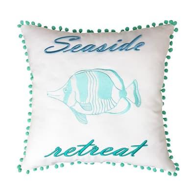 Seaside Retreat Pillow18 in. x 18 in.