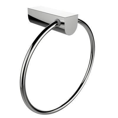 2-Piece Bathroom Accessory Set with Towel Ring in Chrome