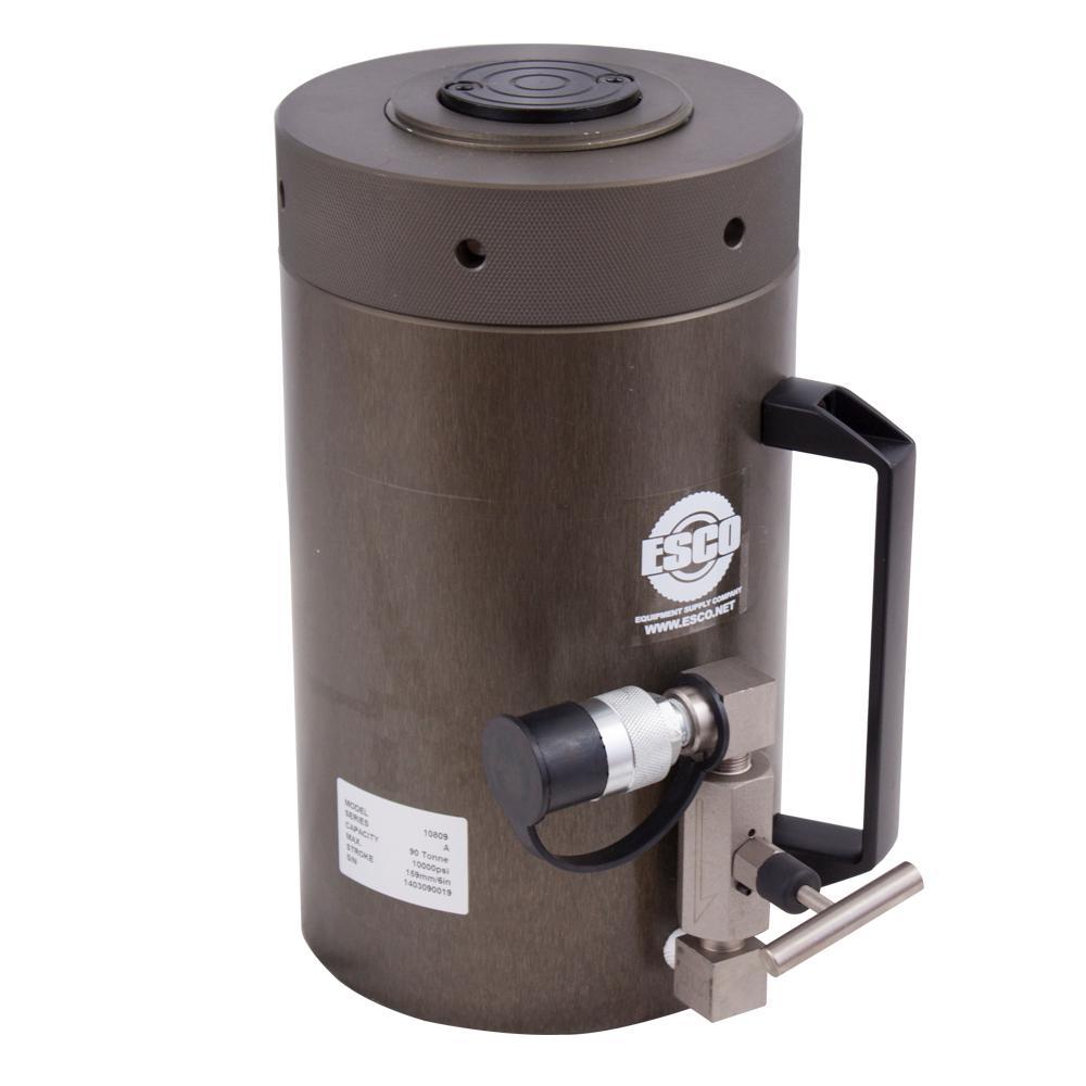 100-Ton Heavy-Duty Hydraulic Locking Collar Cylinder Jack