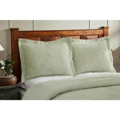 Julian Collection in Solid Stripes Design Tufted Chenille Comforter