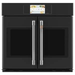 30 in. Smart Single Electric French-Door Wall Oven with Convection Self-Cleaning in Matte Black, Fingerprint Resistant