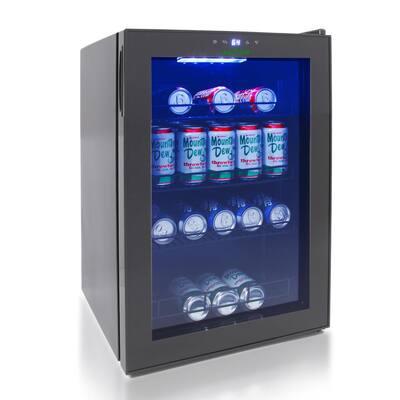 24-Bottle Freestanding Compact Beverage Fridge Cooler Wine Bottle and Can Beverage Chilling Refrigerator Wine Cooler