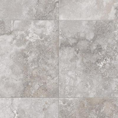 Travertine Grey Stone Residential Vinyl Sheet Flooring 12ft. Wide x Cut to Length