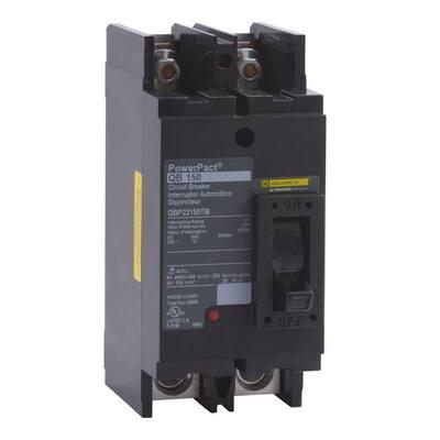 PowerPact 150 Amp 10kA 2-Pole Q-Frame Molded Case Circuit Breaker