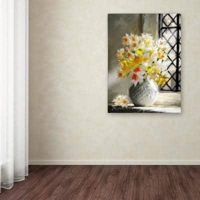 """32 in. x 24 in. """"Daffodils At Window"""" by The Macneil Studio Printed Canvas Wall Art"""