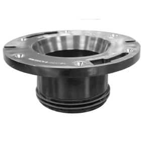 7 in. O.D. x 3 in. Height ABS 2-Finger Push-In Closet (Toilet) Flange for 3 in. Cast Iron or Schedule 40 DWV Pipe