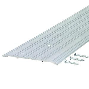 Fluted Saddle 6 in. x 43 in. Aluminum Commercial Threshold