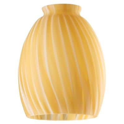 5-3/4 in. Handblown Spice Swirl Shade with 2-1/4 in. Fitter and 4-5/8 in. Width