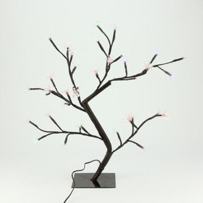 20 in. Multi-Color Lighted Cherry Blossom LED Flower Tree