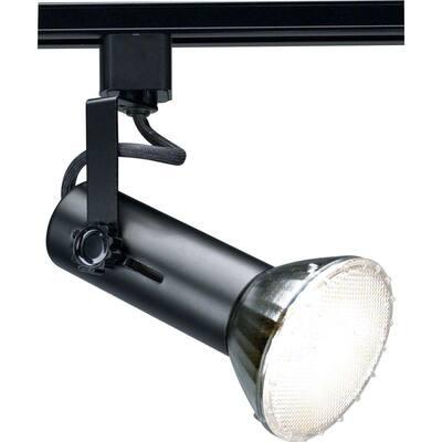 1-Light 2 in. Black Universal Holder Track Lighting Head