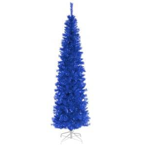 6 ft. Blue Tinsel Artificial Christmas Tree