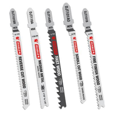 T-Shank Jig Saw Blade Set (5-Piece)