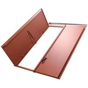 Classic Series 43.25 in. x 65.25 in. Primed Steel Replacement Cellar Door for Sloped Foundation