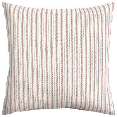 Ticking Stripe Square Outdoor Throw Pillow (2-Pack)