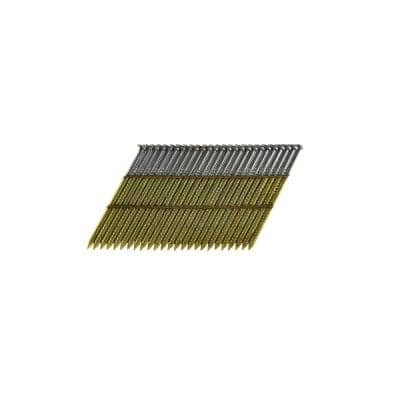 2 in. x 0.113 Wire Weld Collated HD Galvanized Ring Shank Framing Nails (500 per Box)