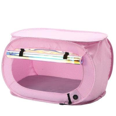 Pink Enterlude Electronic Heating Lightweight and Collapsible Pet Tent