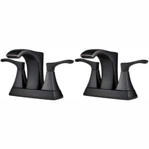 Venturi 4 in. Centerset 2-Handle Bathroom Faucet in Tuscan Bronze (2-Pack Combo)