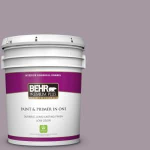 Behr Premium Plus 5 Gal N110 3 Fig Preserves Eggshell Enamel Low Odor Interior Paint And Primer In One 240005 The Home Depot