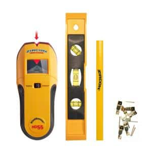 StudSensor HD55 with Picture Hanging Kit, Level and Carpenters Pencil