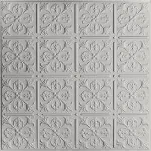 Fleur-de-lis Stone 2 ft. x 2 ft. Lay-in or Glue-Up Ceiling Panel (Case of 6)