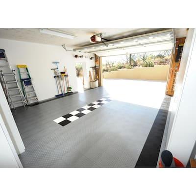 12 in. x 12 in. Diamond Alloy Modular Tile Garage Flooring (24-Pack)