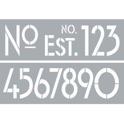 6 in. x 18 in. Art Deco Numbers Stencil